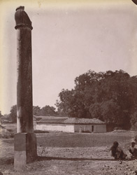 Inscribed pillar at Bhitari.